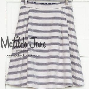 Matilda Jane Simply Stripped Skater Skirt  NWT